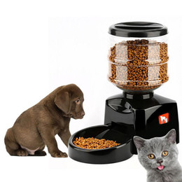 Wholesale food smart - 5.5L Automatic Pet Feeder with Voice Message Recording and LCD Screen Large Smart Dogs Cats Food Bowl Dispenser Pet Products