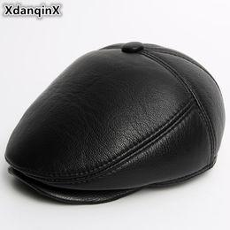 2019 cappello di inverno degli uomini della pelle di pecora XdanqinX  berretto in velluto caldo da c0d0e35f4db1