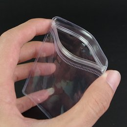 Wholesale Plastic Jewelry Wire - 100Pcs  Lot 4*6cm Clear PVC Self Seal Zipper Plastic Packing Poly Pouch Ziplock Anti-oxidation Jewelry Pack Bag With Valve