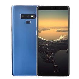 3G WCDMA Goophone Note9 Note 9 V2 1 ГБ 16 ГБ Face ID Android 7.0 GPS 6,3-дюймовый изогнутый полноэкранный металлический каркас смартфона черный золотой красный синий cheap goophone android 16gb от Поставщики goophone android 16gb
