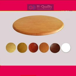 Wholesale Furniture Dining Tables - 800MM 32INCH Dia Solid Oak Wood Quiet Smooth Lazy Susan Rotating Tray Dining Table Household Furniture With 6 Colors