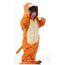 Unisex Fantasia Traje Hoodies Pijama sleepwear Tigger pyjama supplier tigger costume de Fornecedores de traje tigger