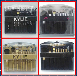 Wholesale New Hair Styling Tools - HOT NEW Kylie cosmetics Brushes Set 12 pieces Makeup Tools Makeup Brushes 4 style Free shipping+GIFT
