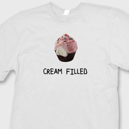 Mostrar creme on-line-Creme Cupcake Cheio de TV Show Engraçado T-shirt 2 Broke Girls Comedy T-Shirt