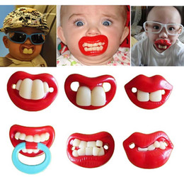 Wholesale Lips Baby Dummy - Funny Baby Pacifier Mouth Big Lips Baby Pacifiers Infant Nipple Dummy Soother