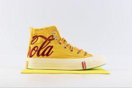 Calçados casuais on-line-ChuckTaylor KITH x Coca All Star 1970S Casual Tênis de Corrida Cola Chuck 70 Oi CT70 Hip Hop Lona Designer de Esportes Tênis 36-44