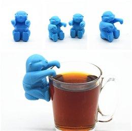 Cuisine cool en Ligne-Cool Man Tea Infuser M. Silicone Filtre à feuilles mobiles e Gadget Cuisine Outils Passoire À Thé Filtre Difuser infuseur de thé IB711