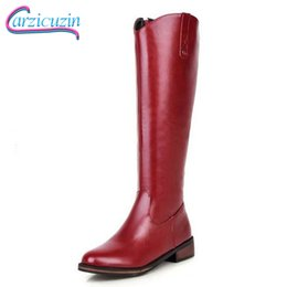 snow boots long high Coupons - Carzicuzin Size 34-43 Women Knee Flats Boots Zip Long Boots Warm Fur Shoes For Cold Winter Botas Snow For Women Footwear