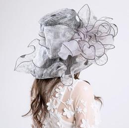 mens breite brutalsommerhüte Rabatt Damenmode Hüte UV-Schutz Stickerei Nest Mode Stickerei Gaze Kappe Visier Baumwolle und Leinen Seide Gedruckt Blume Form