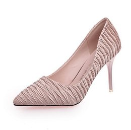 Wholesale Nude Bridesmaids Shoes - New style Fashion Office & Career pointed toes High-heel shoes bridesmaid Party shoes Free shipping Size 34 ~ 39