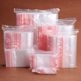 Wholesale Plastic Display Bags - SALE! 500pcs lot 40x60mm Plastic Poly Ziplock Lock Jewelry Bags Jewelry DIY Jewelry Packaging Display