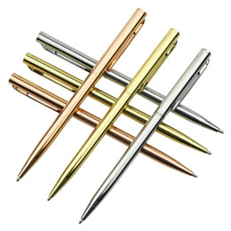 Пополнение бизнеса онлайн-2 pcs 1.0mm Ballpoint Pen Metallic Signature Business Office Gift Pen Gold Silver Rose Gold Three Color Optional / Refill 20 pcs