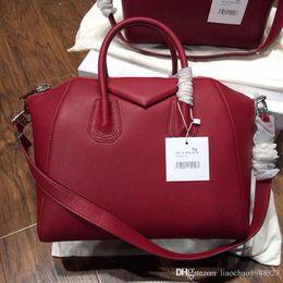 Wholesale Variety Business - TOTE BLACK 100% GOAT SHOULDER HANDBAG A variety red designer handbags high quality bags designer handbags luxury women famous brands