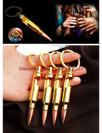Wholesale Bottle Collection - Wholesales Vintage Fashion Collection Lackingone Bullet Shell Shape Bottle Opener Beer Soda Gold Keychain Key Ring Bar Tool Gifts
