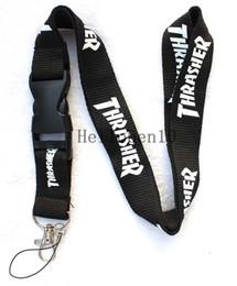 Wholesale carabiner keychain strap - NEW Clothing brand Logo Lanyard Detachable Keychain ID straps
