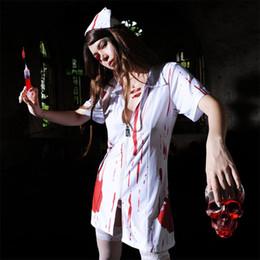 Traje de disfraces de Halloween sexy salpicado de sangre fiesta de Halloween de la mujer desde fabricantes