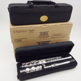 Wholesale new alto - Wholesale Brand New MFC Japan Flute YFL-471 Standard Silver Student Flute Closed Open Hole Flute Model E Key 16 17 Holes
