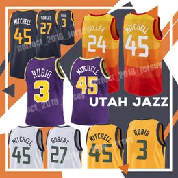 32c24101d basketball jersey youth Promo Codes - 45 Donovan Mitchell Youth Men 3 Ricky  Rubio Jersey 27