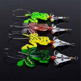 frog lure spinner Desconto 4 pçslote Sapo Iscas De Pesca Macio Isca Crank Bass Spinner Afundamento 9 cm 16 polegada de Alta Qualidade