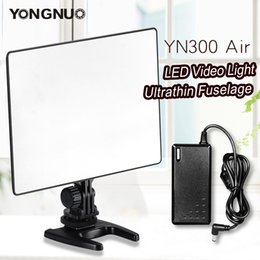 2019 tubo de panel led Estudio fotográfico Iluminación fotográfica YONGNUO YN300 Air 3200K-5500K Panel de luz de video LED con adaptador de corriente alterna para fotografía de video de bodas