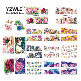 Перенос печати воды онлайн-YZWLE 49 Sheets DIY Decals Nails Art Water Transfer Printing Stickers Accessories For Manicure Salon YZW(D-8148-8196)