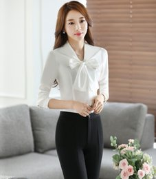 Wholesale Womens Work Suits - Plus Size New Professional Formal Work Suits Spring Fall 2 Piece With Tops And Pants Business Womens Trousers Sets Pants Suits
