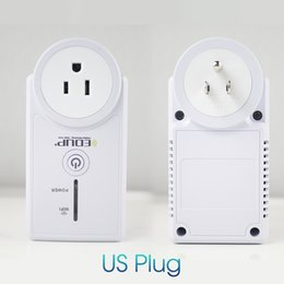 Wholesale Wireless Remote Control Socket - Original EDUP EP-3703 WiFi Remote Power Socket Plug Outlet Smart Home 16A EU US Smart Phone Wireless Controls for ios pad Android