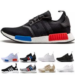 76a3880607df9 Designer NMD Runner R1 Sneaker Men Women Japan Triple black white red PK OG  Tri-Color Running Shoes trainer mens sports Shoes size 36-45 on sale