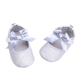 Wholesale Newborn Cotton Butterfly - Newborn Baby Girl Shoes Toddler Boys Shoes Spark Butterfly-knot Moccasins for Babies Bling Frist Walkers Sneakers