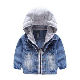 2019 giacca sveglia della ragazza sveglia Cappotto con cardigan Little Boys Cappotto con zip Denim Baby Hoodies Capispalla