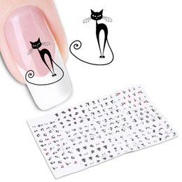 arte de uñas 3d animales Rebajas 2017 Nuevo 1 Hoja de Dibujos Animados 3D Lindo Gato animal Nail Art Sticker Manicure Decal Tips DIY Pegatinas de Uñas Manicura herramienta