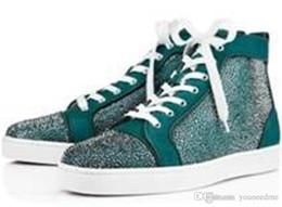 best sneakers 9bc13 e074c Zapatillas de deporte de la parte inferior roja de la marca de lujo Suede  de la luz azul con picos Zapatos para mujer casuales de los hombres  Zapatillas de ...