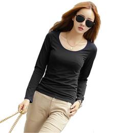 427fcd3eec0cee grünes langes hülsent-shirt Rabatt Trend Frauen T-Shirts Frühling Herbst  Scoop Neck rot