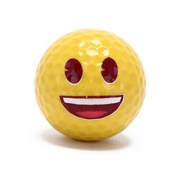 Divertenti regali da golf online-1 pz Golf Ball Emoji sveglio divertente della sfera di golf di accessori regalo gomma Surlyn per il golf gioco di formazione per bambini Golfers