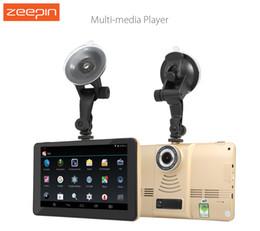 2019 carro multimédia 170 Graus 5 polegada Android 4.4 Tablet GPS Do Carro 1080 P DVR Recorder WiFi / FM Carro Multi-media Player Navegador de Navegação GPS carro multimédia barato