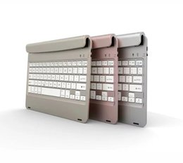 Wholesale Rechargeable Cases - Mini slotted Wireless Bluetooth keyboard for New Apple iPad Pro 9.7 inch Air 2 Tablet PC Rechargeable Portable F17