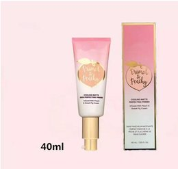 Uv kosmetik online-Dropshipping grundierte pfirsichfarbene Kosmetik 40ML, die die matte Haut vervollkommnete Grundierung abkühlt, die mit PeachSweet Fig Cream Faced Foundation Primer hineingegossen wurde