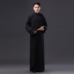 Chinese Folk Dance Men Robe Chinese Traditional Clothing Male Tang Clothing  Teacher Costume Ancient Costume 0d837d413
