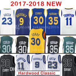 Wholesale Jersey 11 - 2018 New 30 Stephen Curry 35 Kevin Durant Jersey 23 Draymond Green11 Klay Thompson 9 Andre lguodala The City Basketball Jerseys Adult