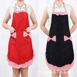 Wholesale Princess Work - Factory direct selling   marketing aprons work aprons Korean version of thick cotton wholesale Princess