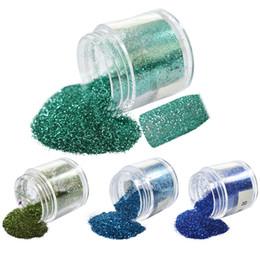 Gel nails dicas verdes on-line-Art Glitter 1 Garrafa 10g prego Glitter Verde / Sapphire Decorações Nail Tips Poeira Gel Pó Polish Moda cobertura completa Lantejoula # 06/13/28/42