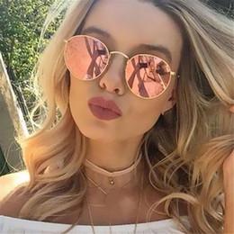 b5f3ec77ed Sunglasses Women Mirror Glasses Coating Reflective Female Retro Sun Glasses  Brand Designer Trend Circular Frame Eyewear mirrored sunglasses trend  promotion