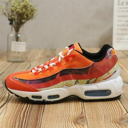 Wholesale cool shoe brands - Brand New 95 Running Shoes Men Shoes 95 Racer Sports Shoes Premium OG Neon Cool Orange Outdoor Sneakers size 40-44