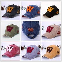 Wholesale Cowboy Mix - Hot Fashion Trend Baseball Caps 8 Colors W Peaked Cap New Adjustable Snapbacks Sun Hats Free Drop Shipping Mix Order