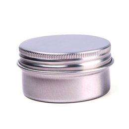 Wholesale aluminium cosmetic containers - 30g Empty Round Aluminium Container Nail Art Jar Cosmetic Cream Jar Lip Balm Containers With Screw Lid OOA4925