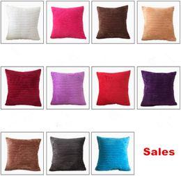 Vendite calde 11 colori fodera per cuscino di velluto a coste colore solido federe per cuscini fodere per cuscini per auto ufficio arredamento per la casa cheap corduroy cushion covers da coprisedili in cuscino in corduroy fornitori