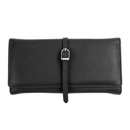 Wholesale Elegant Fashion Jewellery - ONLVAN Jewelry Bags High Quality Leather Fashion Elegant Pouches Two Color Makeup Pouch Travel Jewellery Roll Make Up Bags