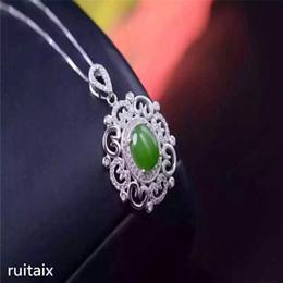 9d0a1328e1f4 jade jade Rebajas Joyas KJJEAXCMY S925 Incrustaciones de plata pura natural  jade dama colgante + collar