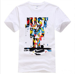 Wholesale 3d print t shirts - New Fashion Brand T Shirt Just Do It 3D Printed T-shirts Men Summer Tops Tees Hip Hop Anime Male Tshirt