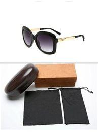 2019 logotipos da marca de moda feminina 2018 livre barco moda marca de luxo óculos de sol dos homens do vintage designer de marca brilhando moldura de ouro logotipo do laser caixa de alta qualidade feminina.